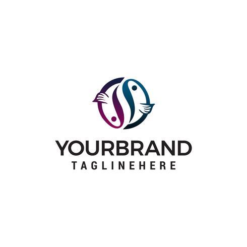 Fisch Logo Design Konzept Vorlage Vektor
