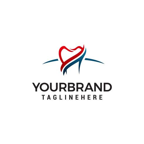 Zahnpflege-Logo-Design-Konzept-Vorlage Vektor