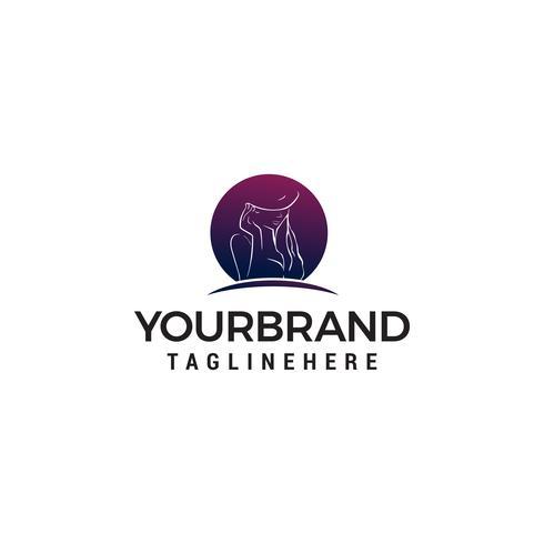 kvinnor mode logotyp handritad stilig design koncept mall ve vektor