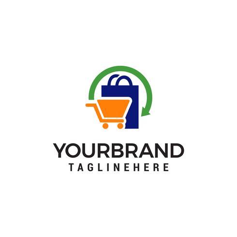 shopping logotyp design koncept mall vektor