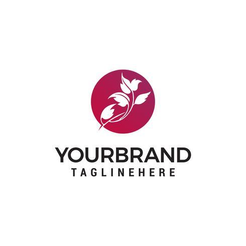 Blatt Blume Logo Design Konzept Vorlage Vektor