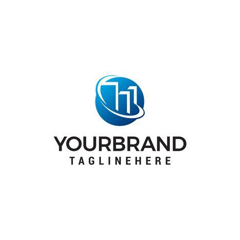 Immobilien Kreis Logo Design Konzept Vorlage Vektor