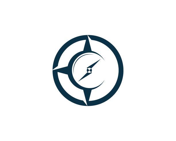 Kompasslogo och symbolmallikon vektorbild vektor