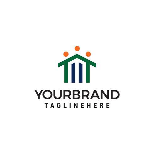 home healty logo design concept template vector