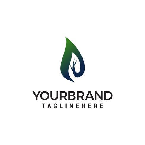 Flamme Natur Logo Design Konzept Vorlage Vektor