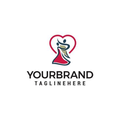 Tanz Logo Design Konzept Vorlage Vektor