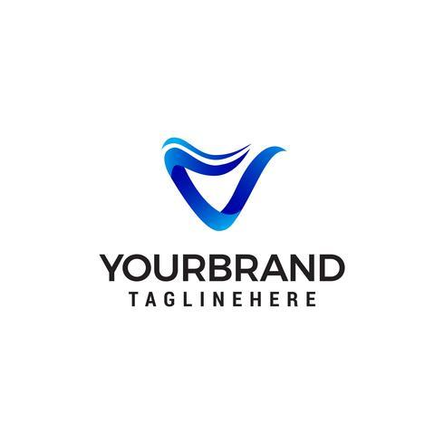 brev v moderna logo design koncept mall vektor