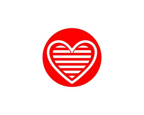 Liebes-Logo und Symbole Vektor-Schablonenikonen-APP vektor
