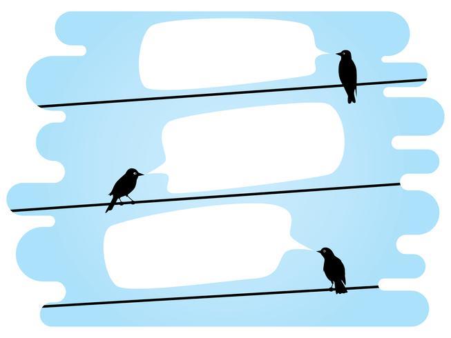 Vögel an Drähten plaudern vektor