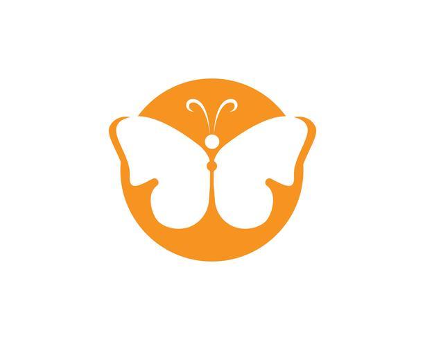 Schmetterling konzeptionelle einfache, bunte Symbol. Logo. Vektor-illustration vektor