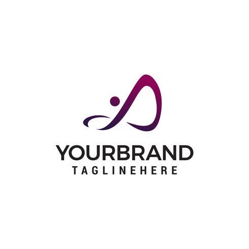 Logo unendlich Menschen Design Konzept Vorlage Vektor