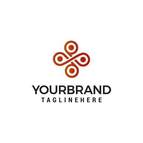 inre emblem logo design koncept mall vektor