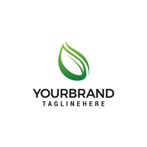 natürliches Blatt Logo Design Konzept Vorlage Vektor