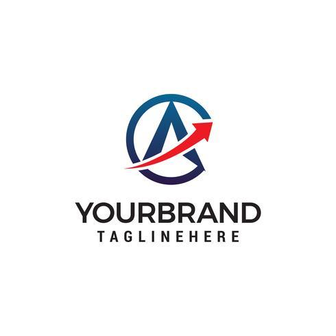 Buchstabe A Pfeil Logo Design Konzept Vorlage Vektor