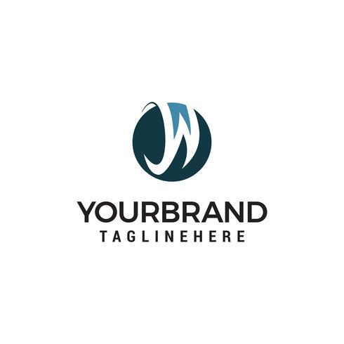 Buchstabe W Logo Design Konzept Vorlage Vektor