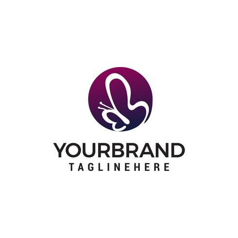 fjäril logotyp design begrepp mall vektor