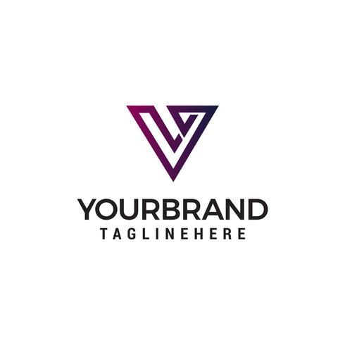 brev v abstrakt logotyp design koncept mall vektor