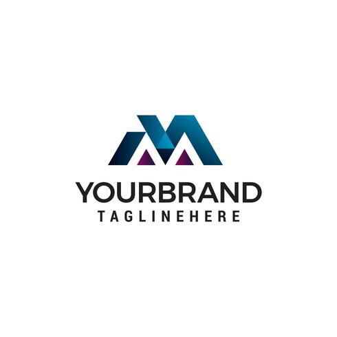 brev M logo design koncept mall vektor