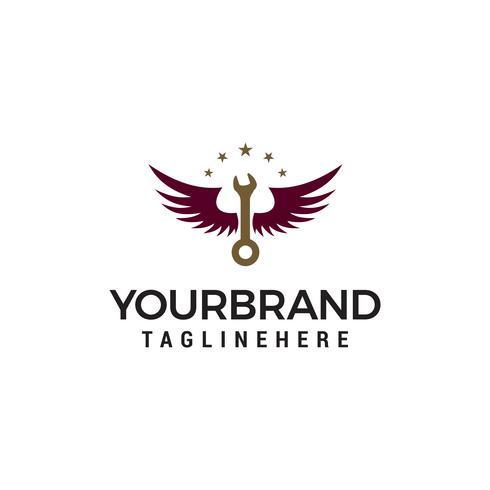 Schraubenschlüssel Logo Design Konzept Vorlage Vektor