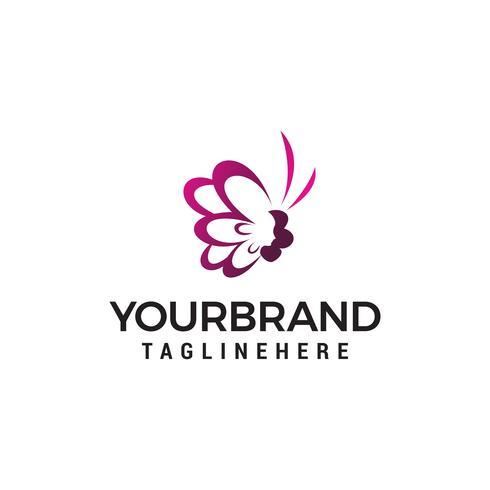 Skönhetssalong vektor logotyp eller ikon mall. Butterfly logo