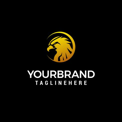Kopf Adler Logo Design Konzept Vorlage Vektor