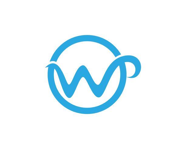 W-brev företagslogotyp och symbolmall, vektor