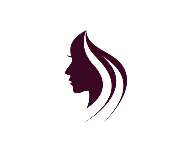 hår kvinna och ansikte logotyp och symboler ,, vektor