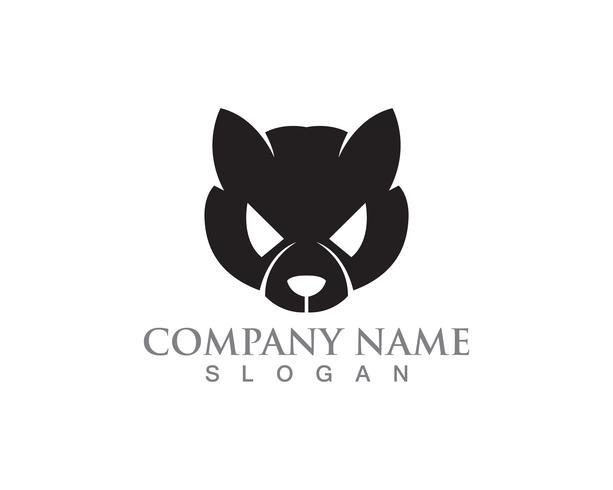 Katt och hund vektor silhuetter logotyp mall