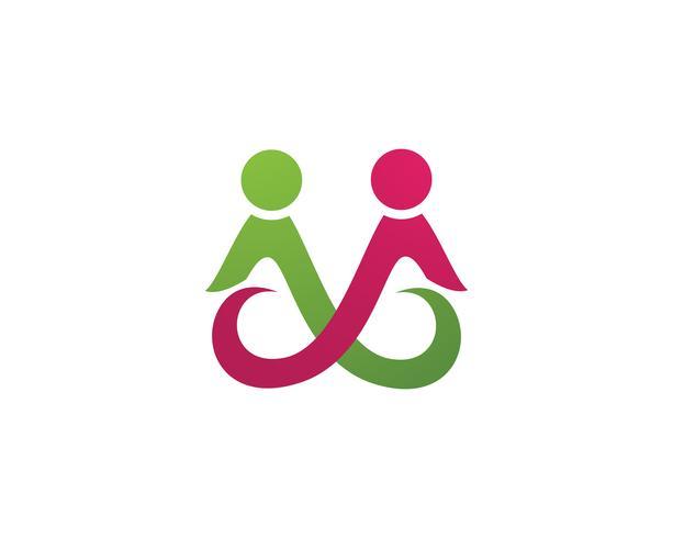 Antagande och samhällsvård Logo mall vektorikon, vektor