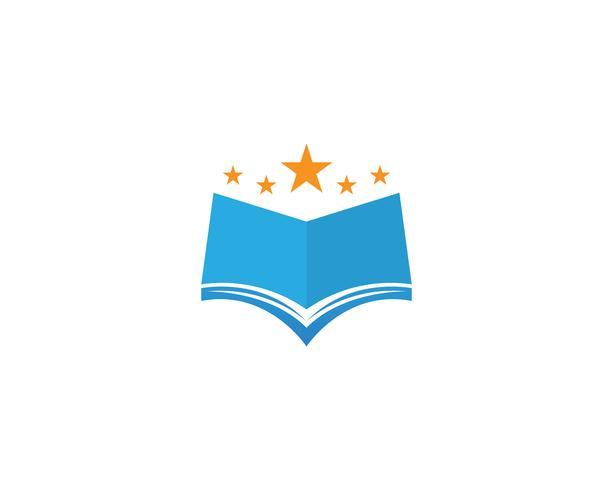 Bokläsning av logotyper och symboler mallikoner app vektor