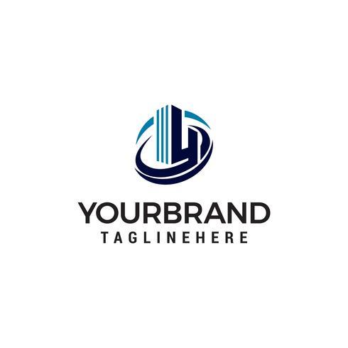 brev h hotellbyggnad logo design koncept mall vektor