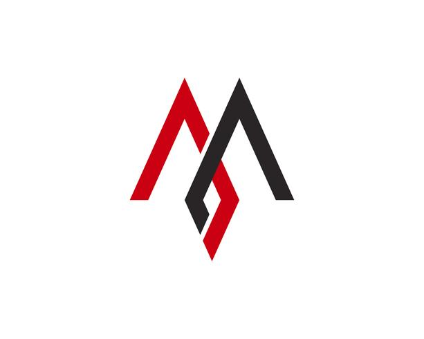 M Letter Logo Business Mall Vector ikon,