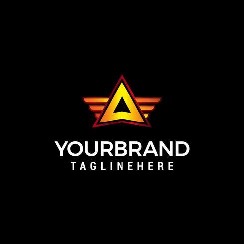 brev A med vinge logo designkoncept mall vektor