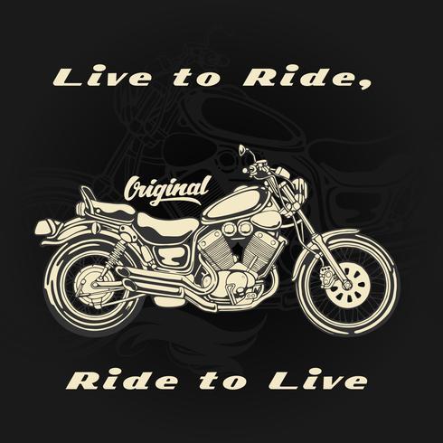 Lev för att åka och åka för att leva vektor