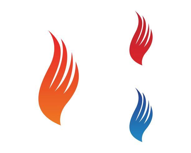 Feuerflammen-Naturlogo und Symbolikonenschablone vektor
