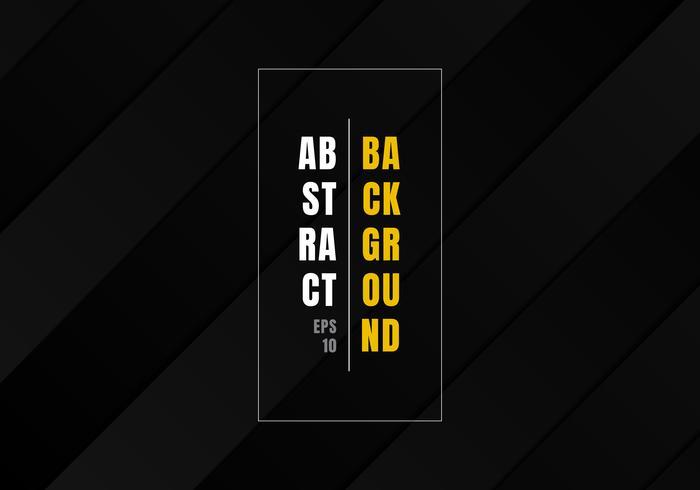 Abstrakte schwarze gestreifte geometrische Rechteckmusterwiederholung und dunkler Hintergrund des Schattens und Beschaffenheitsluxusart. vektor