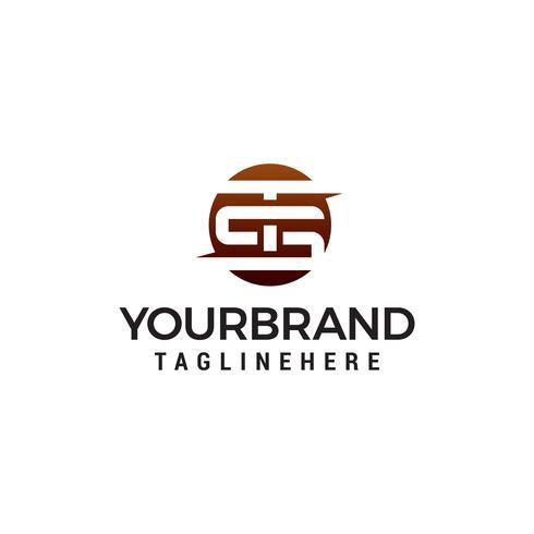Buchstabe TS Kreis Logo Design Konzept Vorlage Vektor