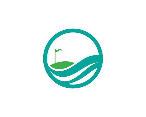 Golfklubb ikoner symboler och logotyper vektorbilder vektor