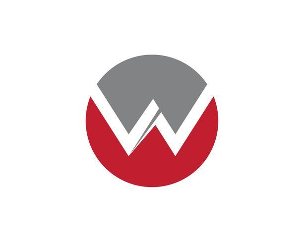 W-Buchstabe Logo Business Template Vector-Ikone vektor