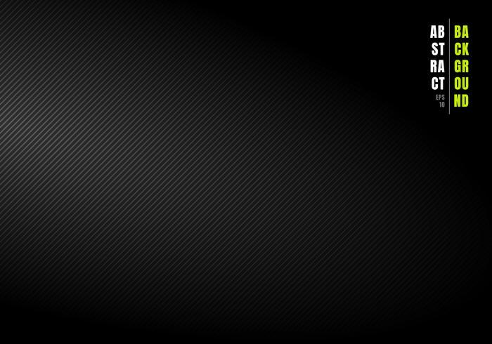 Abstrakta diagonala linjer randig svart och grå gradient bakgrund och konsistens med ljus från sidan. Du kan använda för din verksamhet. vektor