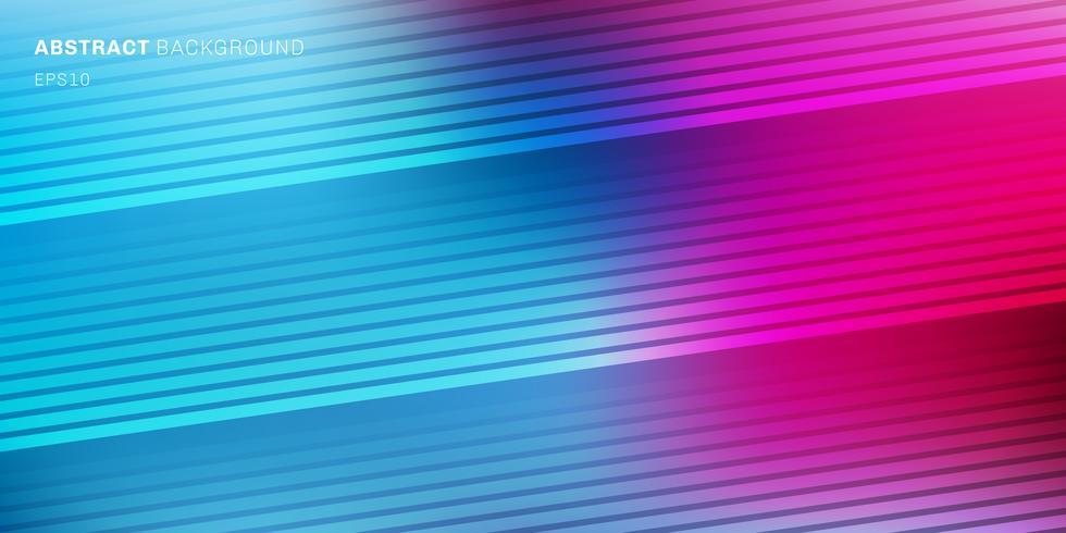 Abstrakt blå, lila, rosa livlig färg suddig bakgrund med diagonala linjer mönster textur. Mjukt mörkt till lätt gradientbakgrund med plats för text vektor