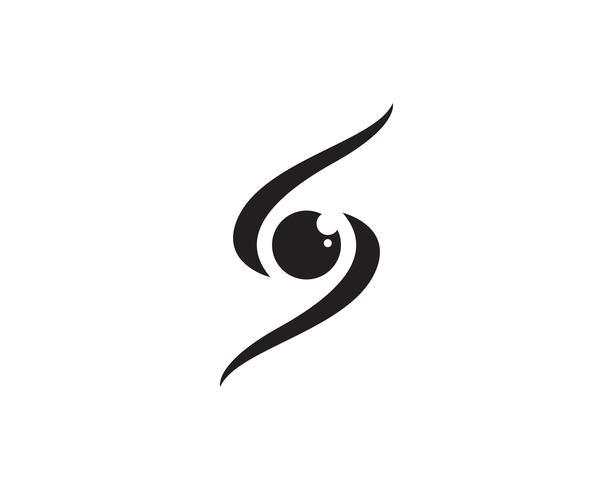 Ögonvårdslogotyp och symbolmall vektorikoner app vektor