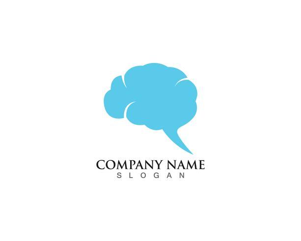 Brain Logo Mall och symboler ikoner app vektor