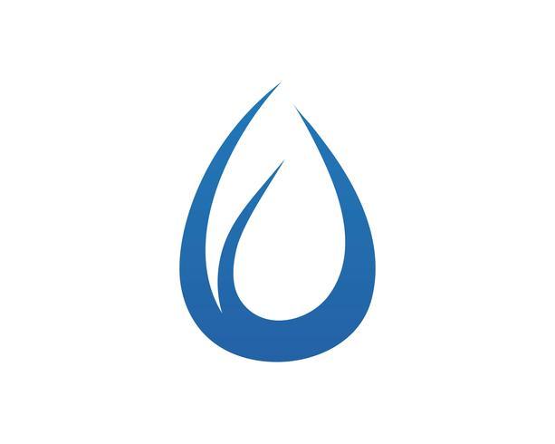 Vattenfall Logo Mall vektor