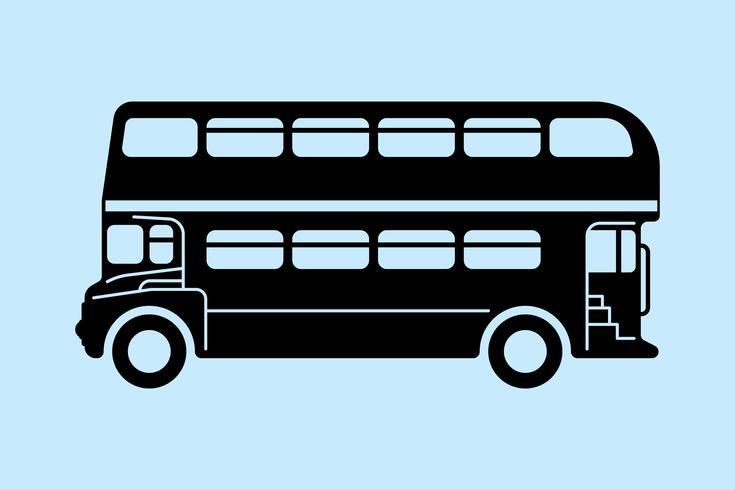 London dubbeldäckare buss vektor
