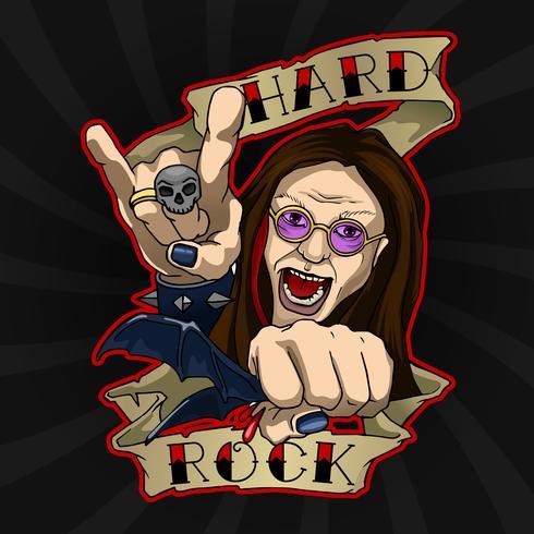 Hard Rock Poster vektor