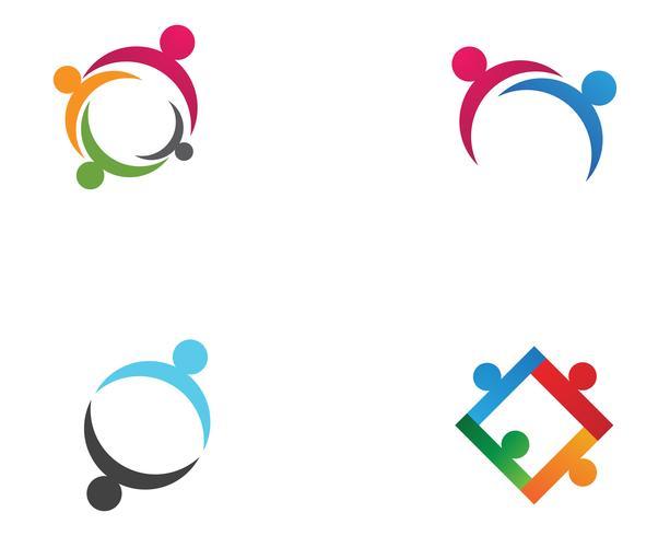 Gemenskapens folkomsorg logotyp och symboler mall ,, vektor