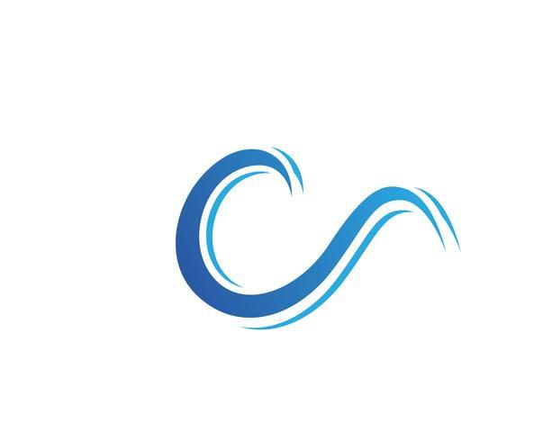 Waves logo och symboler mall ikoner app vektor