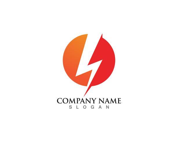 flash thunderbolt logotyp mall vektor
