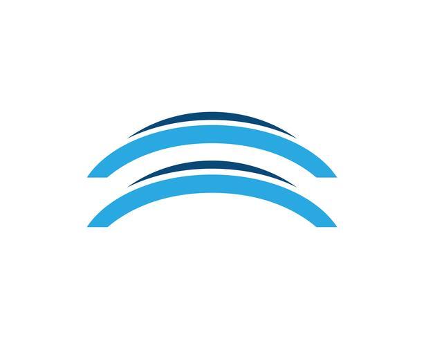 Bridge ikon vektor illustration Logo mall design,